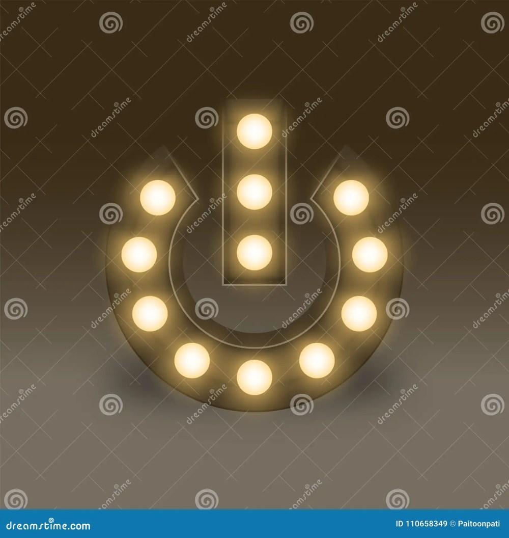 medium resolution of symbol incandescent light bulb box set power sign icon illustration retro 3d
