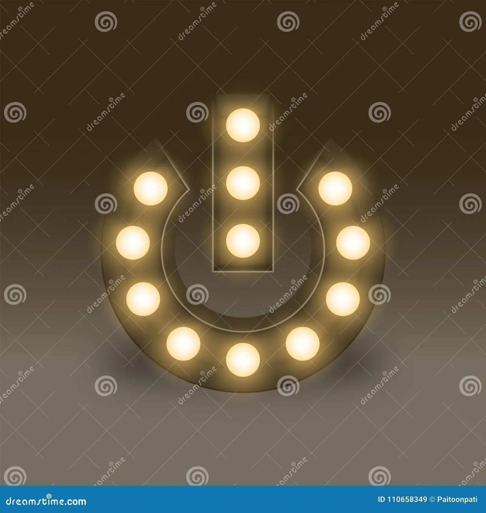 hight resolution of symbol incandescent light bulb box set power sign icon illustration retro 3d