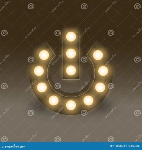 small resolution of symbol incandescent light bulb box set power sign icon illustration retro 3d