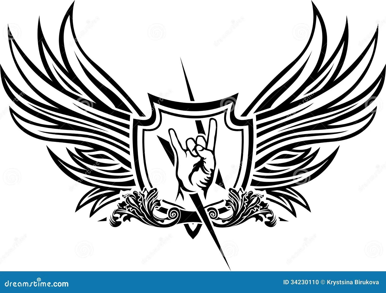 Symbole De Vecteur De Rock Illustration De Vecteur