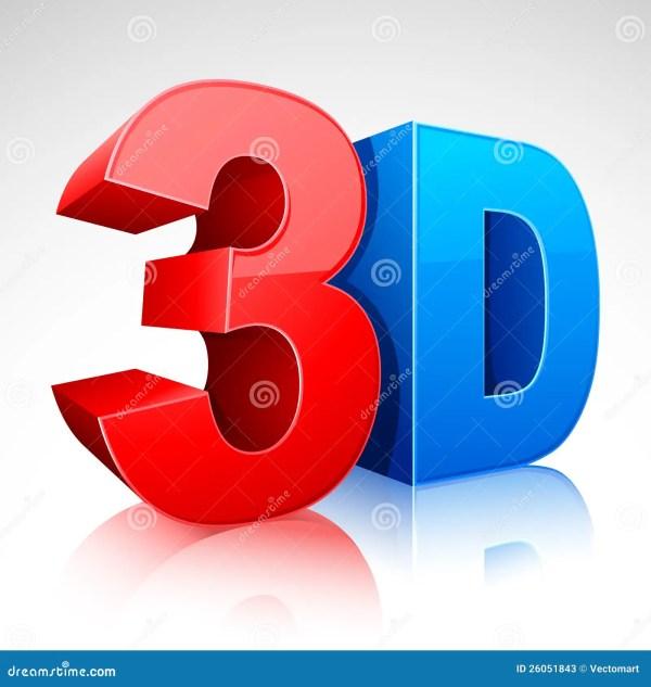 Symbole Du Mot 3d Illustration De Vecteur
