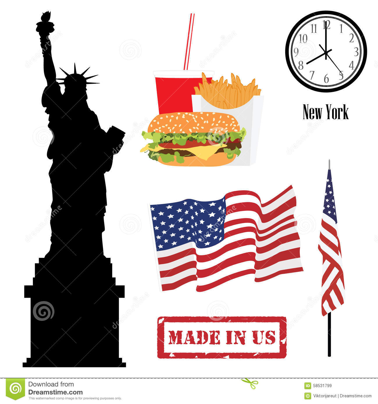 Symboles Des Etats Unis Illustration Stock Illustration