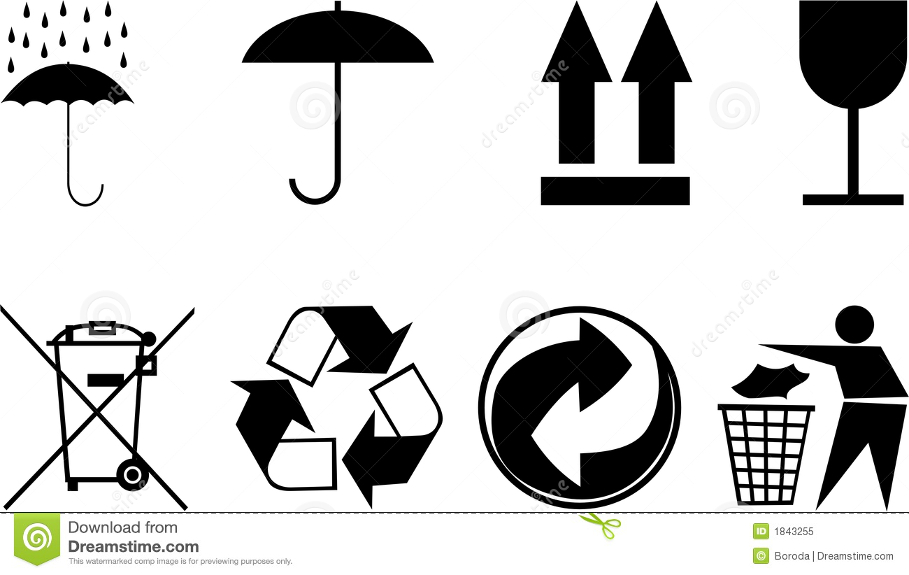 Symbols For Packing Subjects. Editorial Image