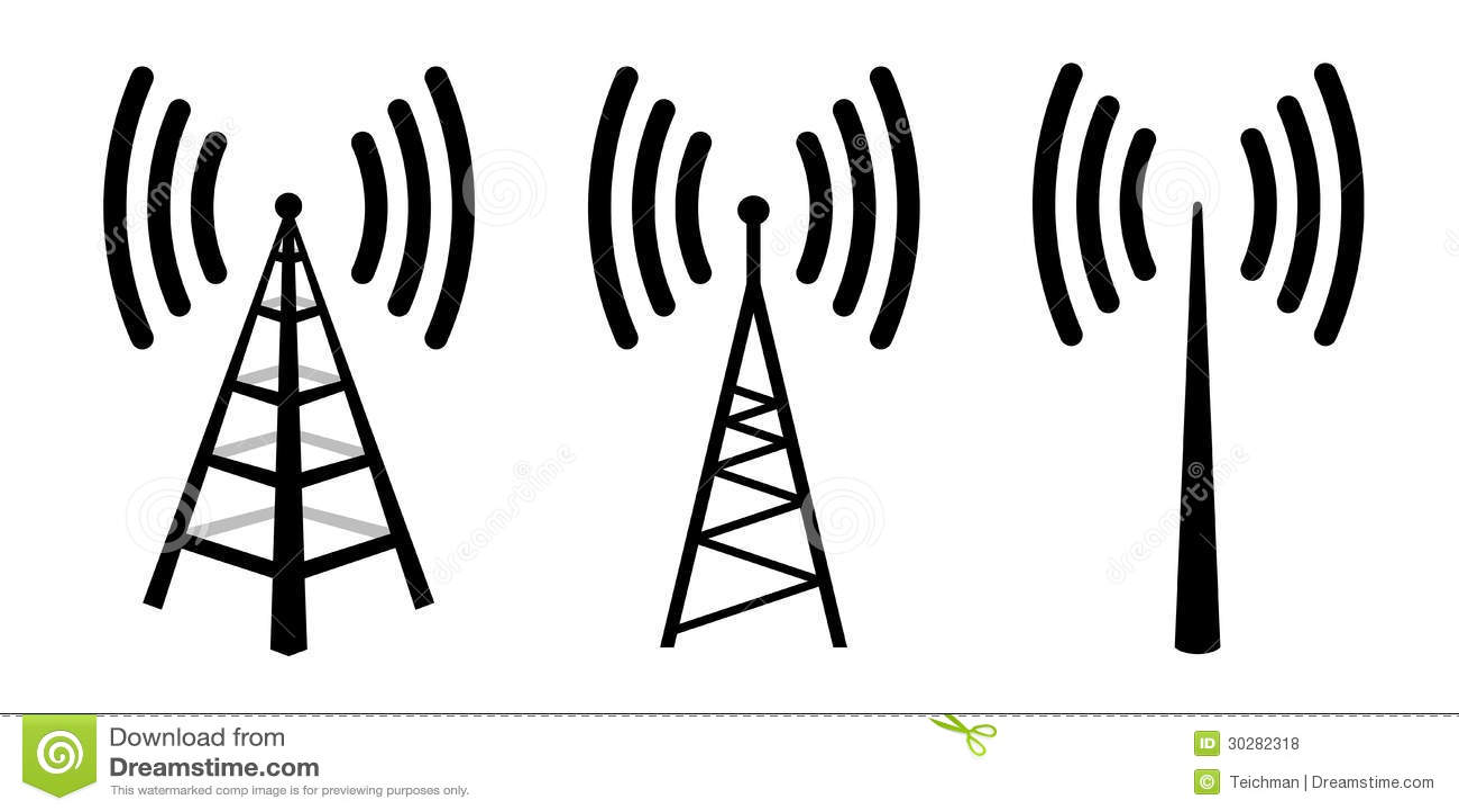 Radio antenna stock vector. Illustration of