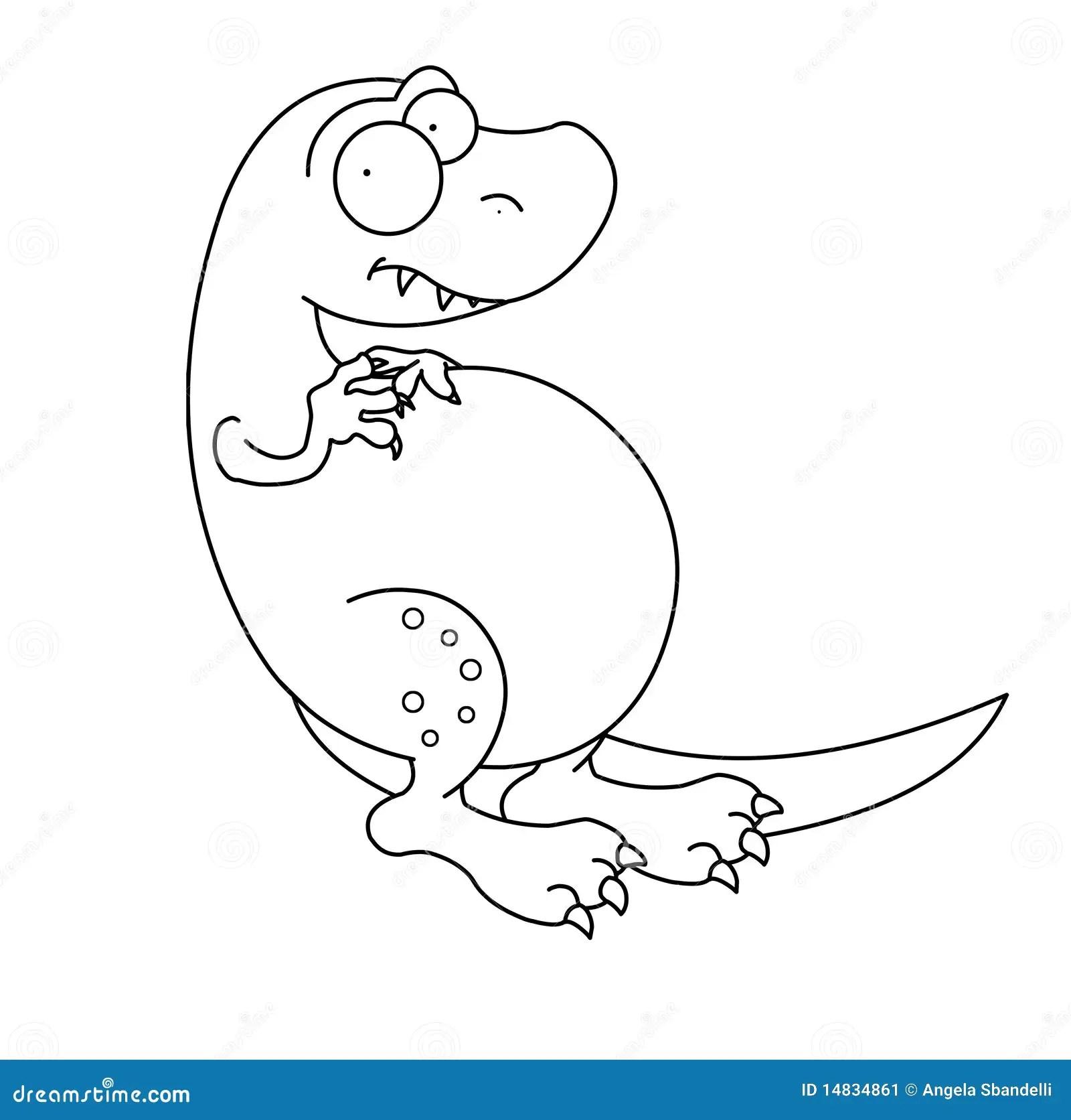 T Rex Dinosaur Black And White Stock Image