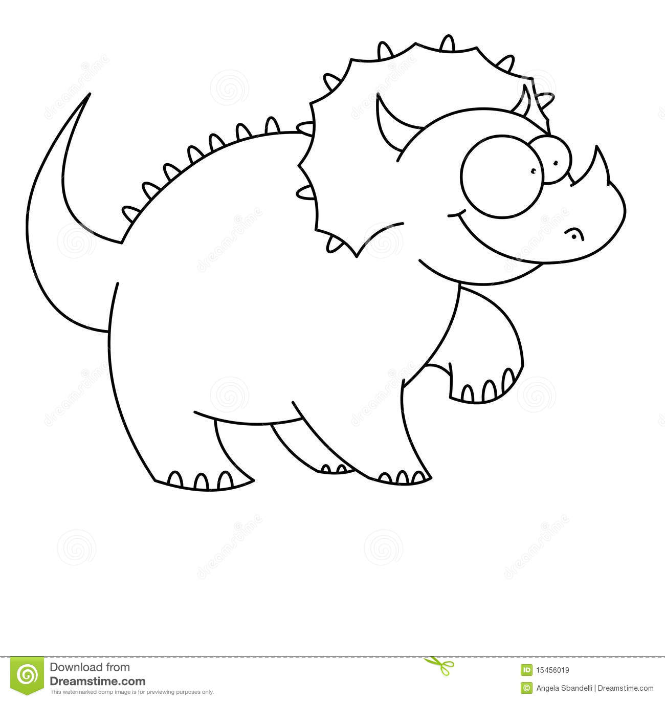 T Rex Dinosaur Black And White Royalty Free Stock Images