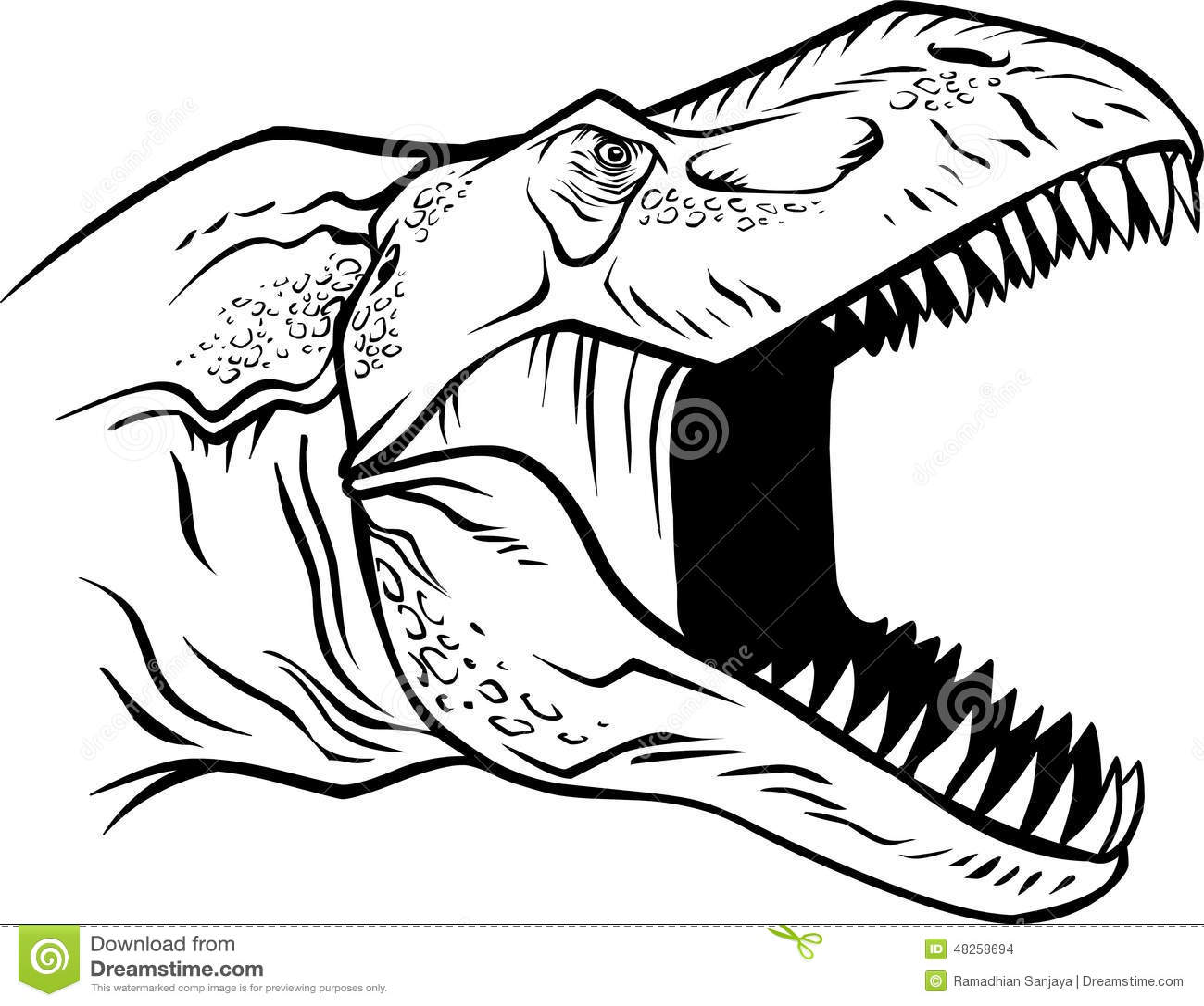 T Rex Head Stock Vector Illustration Of Illustration