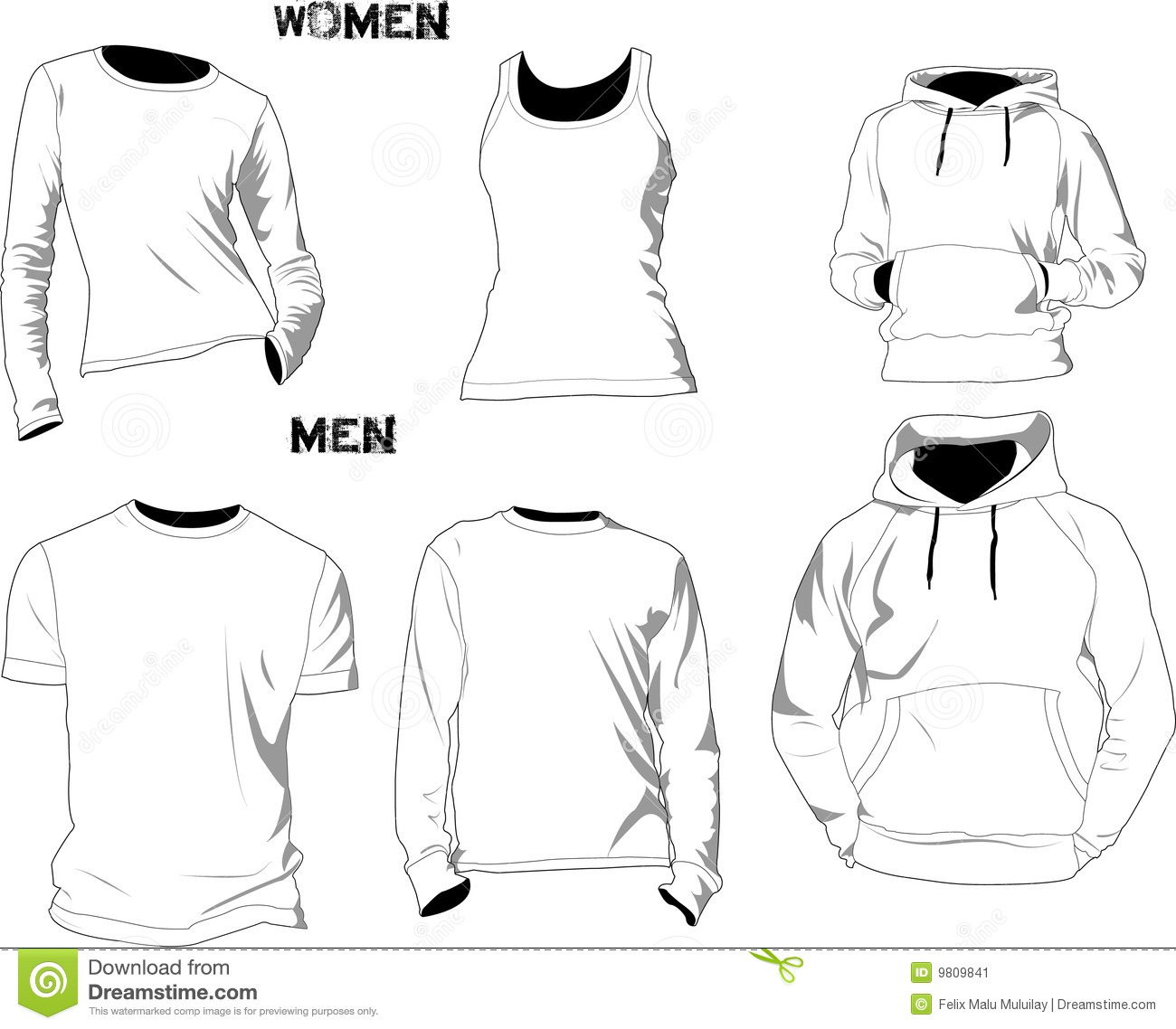 T Shirt Templates Stock Image
