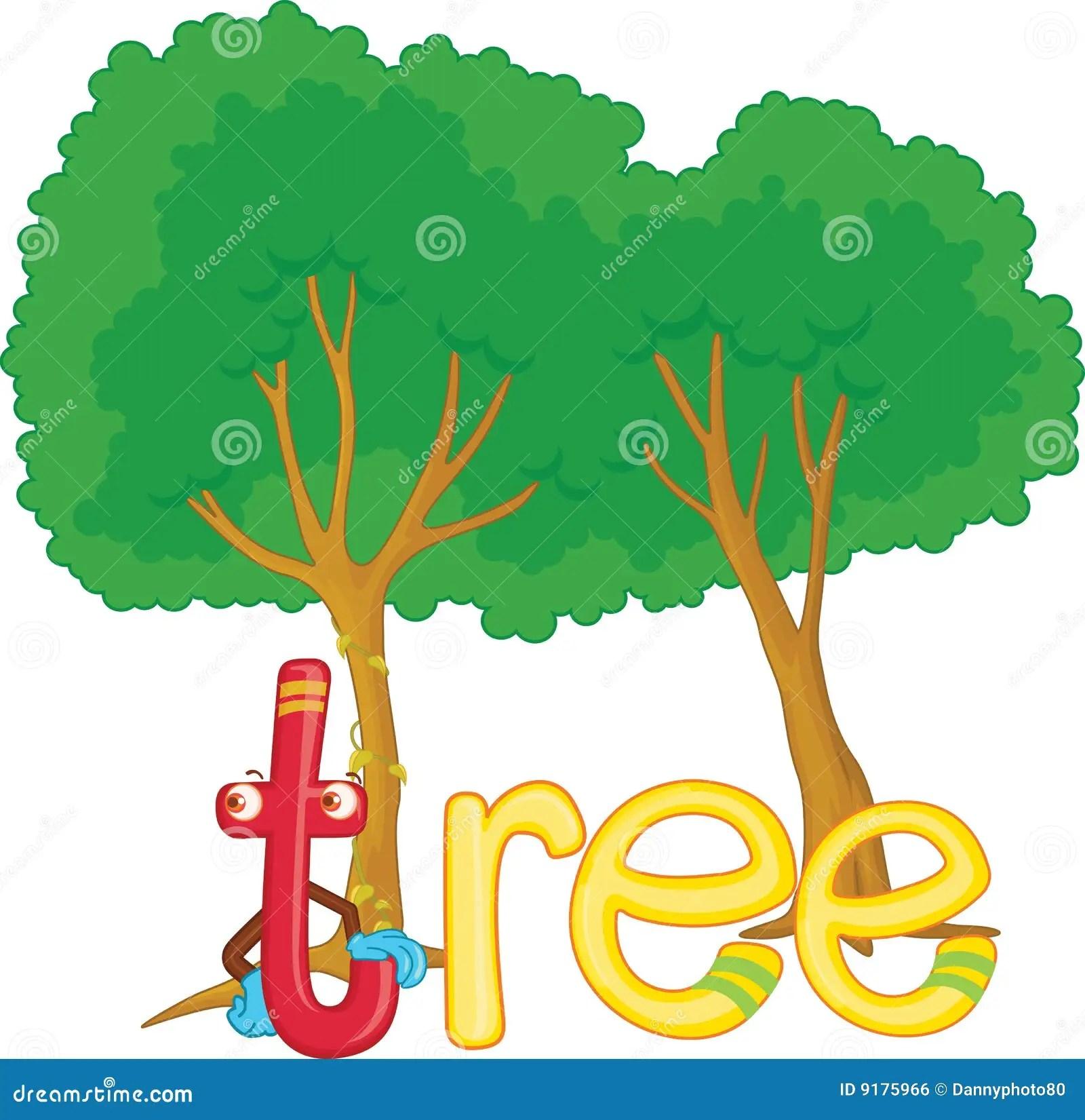 T For Tree Stock Illustration Illustration Of Small