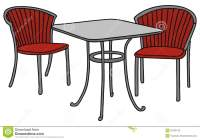 Table and chairs stock illustration. Illustration of house ...