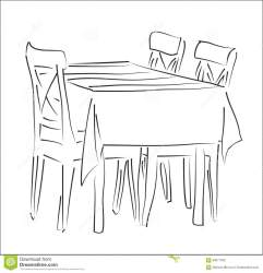 Table and chairs silhouette vector
