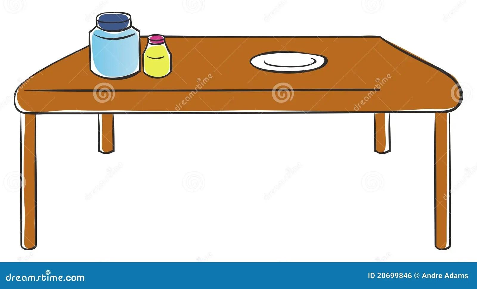 Table de cuisine illustration de vecteur Illustration du illustration  20699846