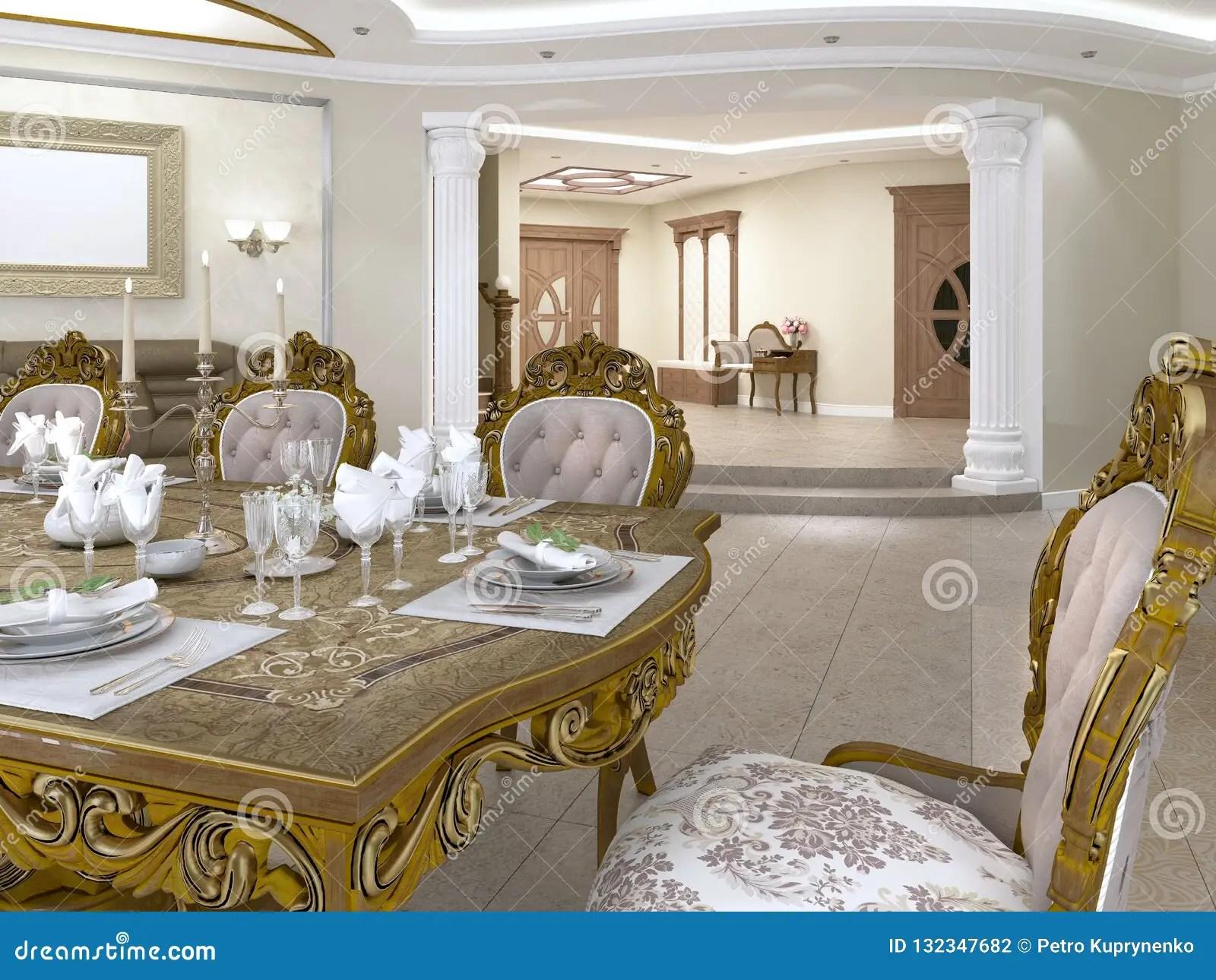 chaises baroques de style donnant