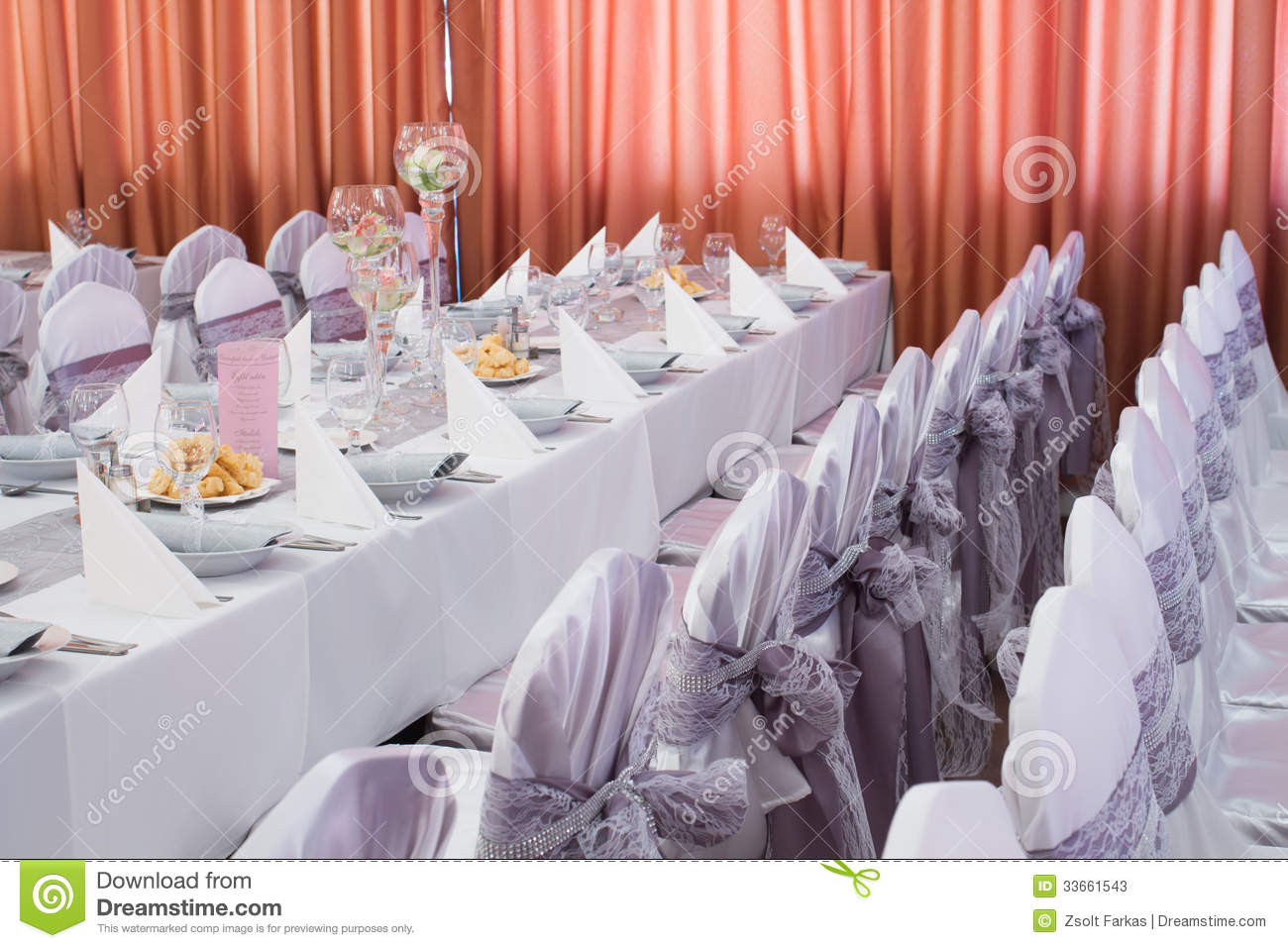 wedding decorations chairs receptions bariatric potty chair table set for an event party or reception stock
