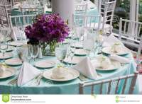 Table Set For A Wedding Reception Stock Image - Image: 7424941