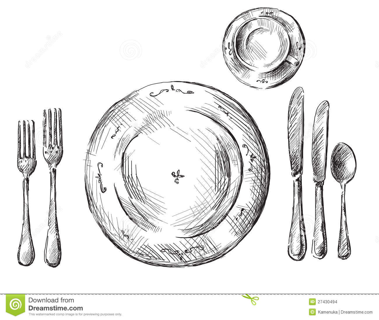 Table Setting Stock Vector Illustration Of Coffee