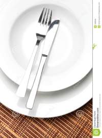 Table Setting With Dishes And Utensils Stock Photos ...