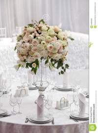 Table Setting At A Luxury Wedding Reception. Beautiful ...