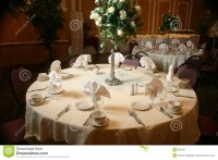 Table Setting Before A Wedding Stock Photo
