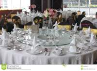 Table Setting For A Wedding Royalty Free Stock Photography