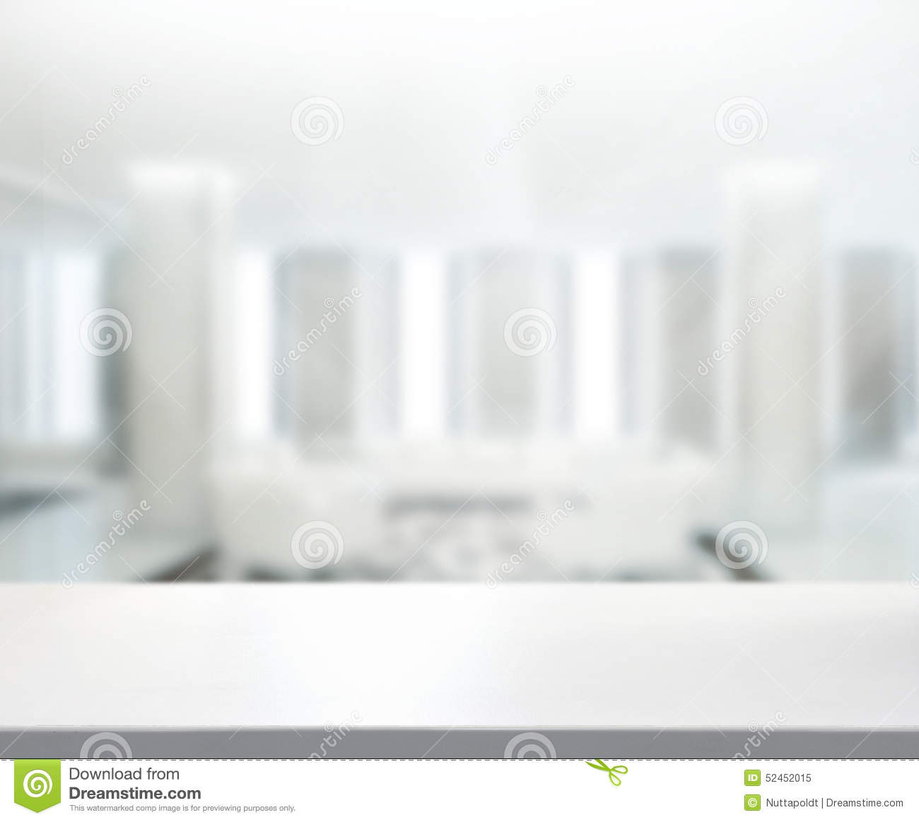 Table Top And Blur Office Background Stock Photo Image 52452015