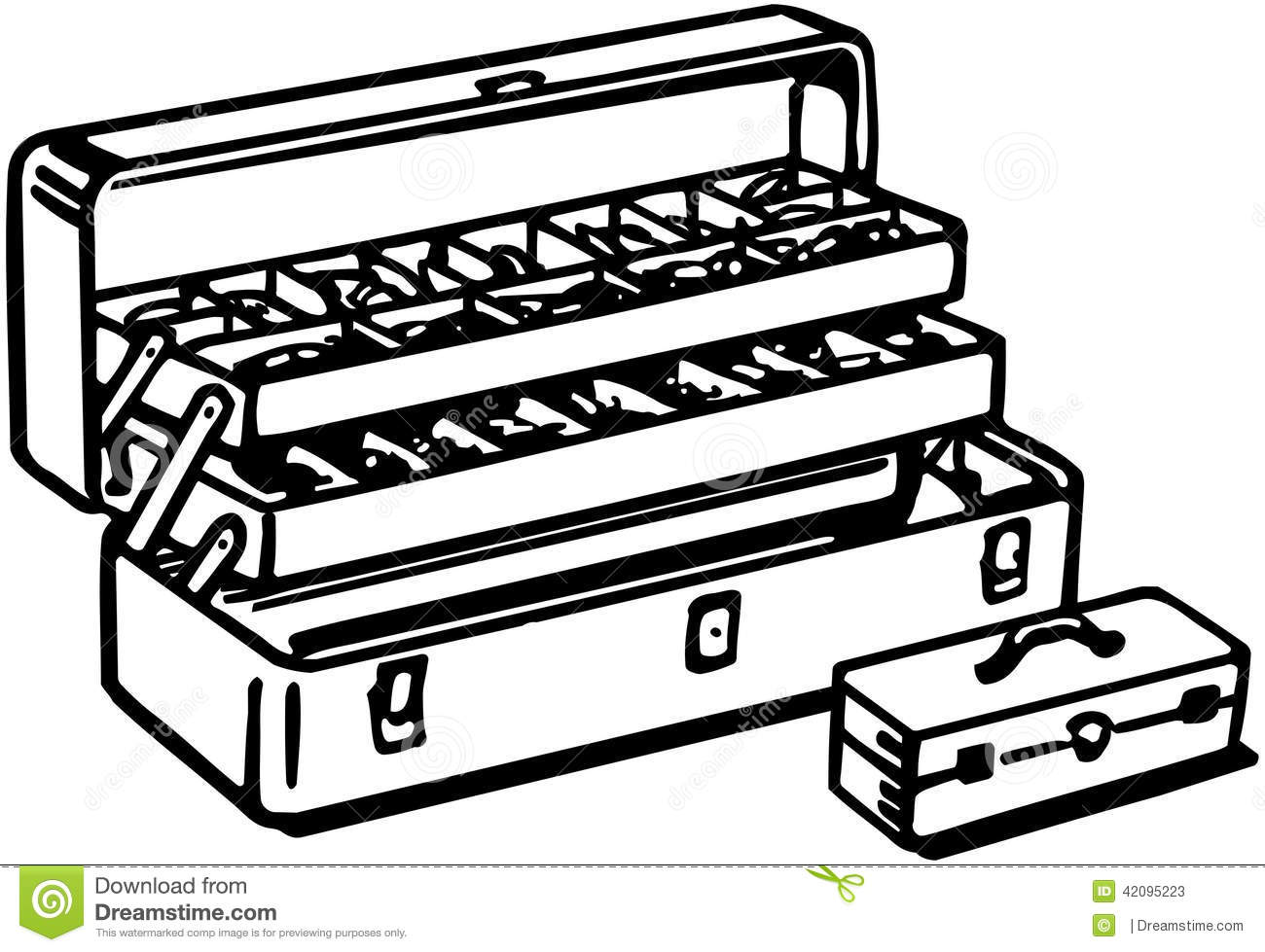 Tackle Box stock vector. Illustration of sporting