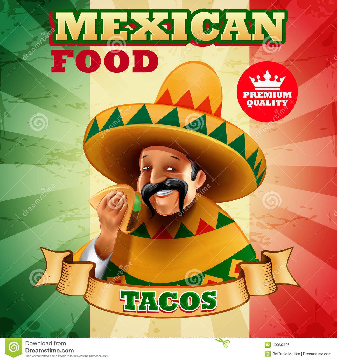 Tacos Mexican Stock Vector Image Of Collection Cook 49060496