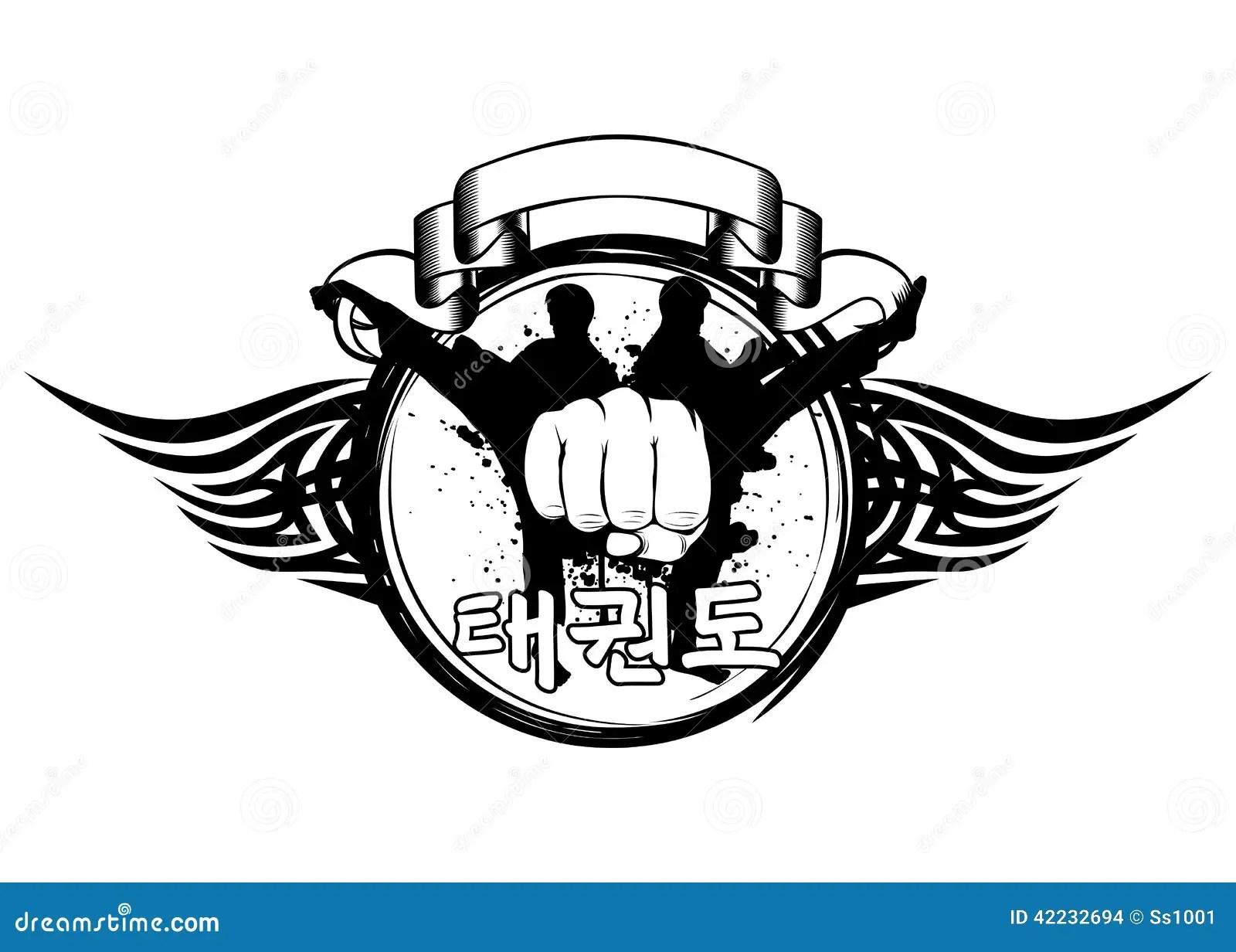 Taekwondo Stock Vector Illustration Of Athlete Asian