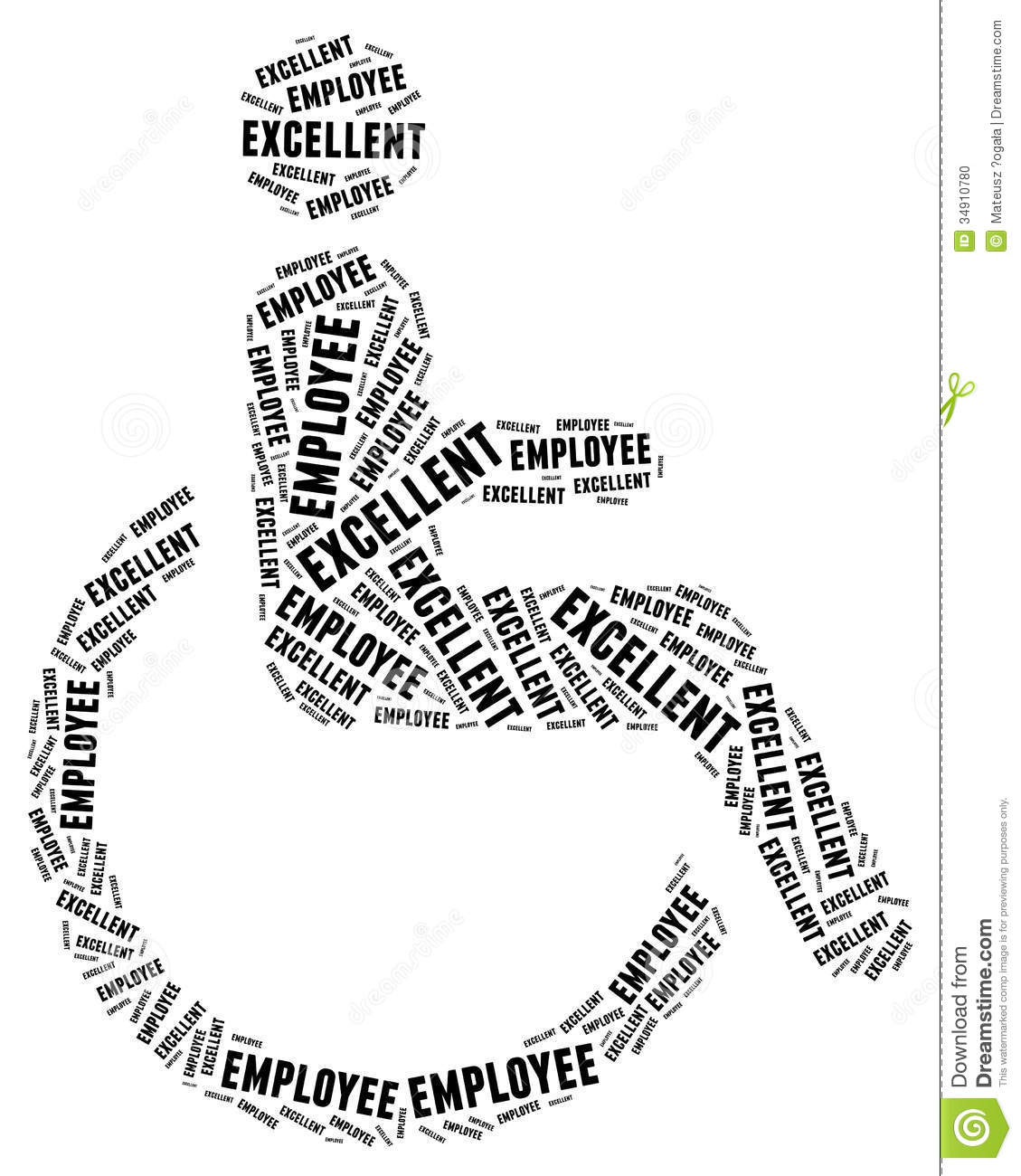 Tag Or Word Cloud Disability Related Stock Photo