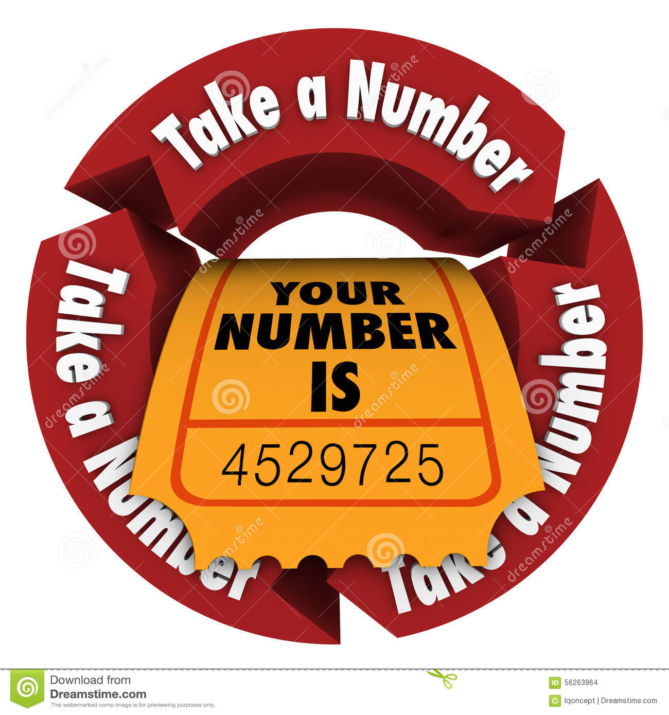 Take A Number Wait Your Turn Ticket Be Patient Stock