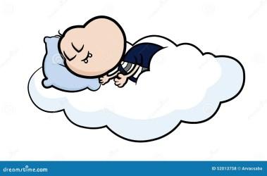nap taking cartoon sleeping character cloud vector peaceful