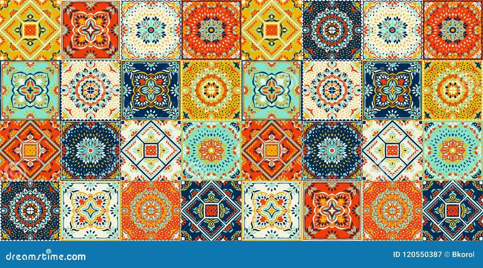 https www dreamstime com talavera pattern indian patchwork azulejos portugal turkish ornament moroccan tile mosaic ceramic tableware folk print spanish image120550387