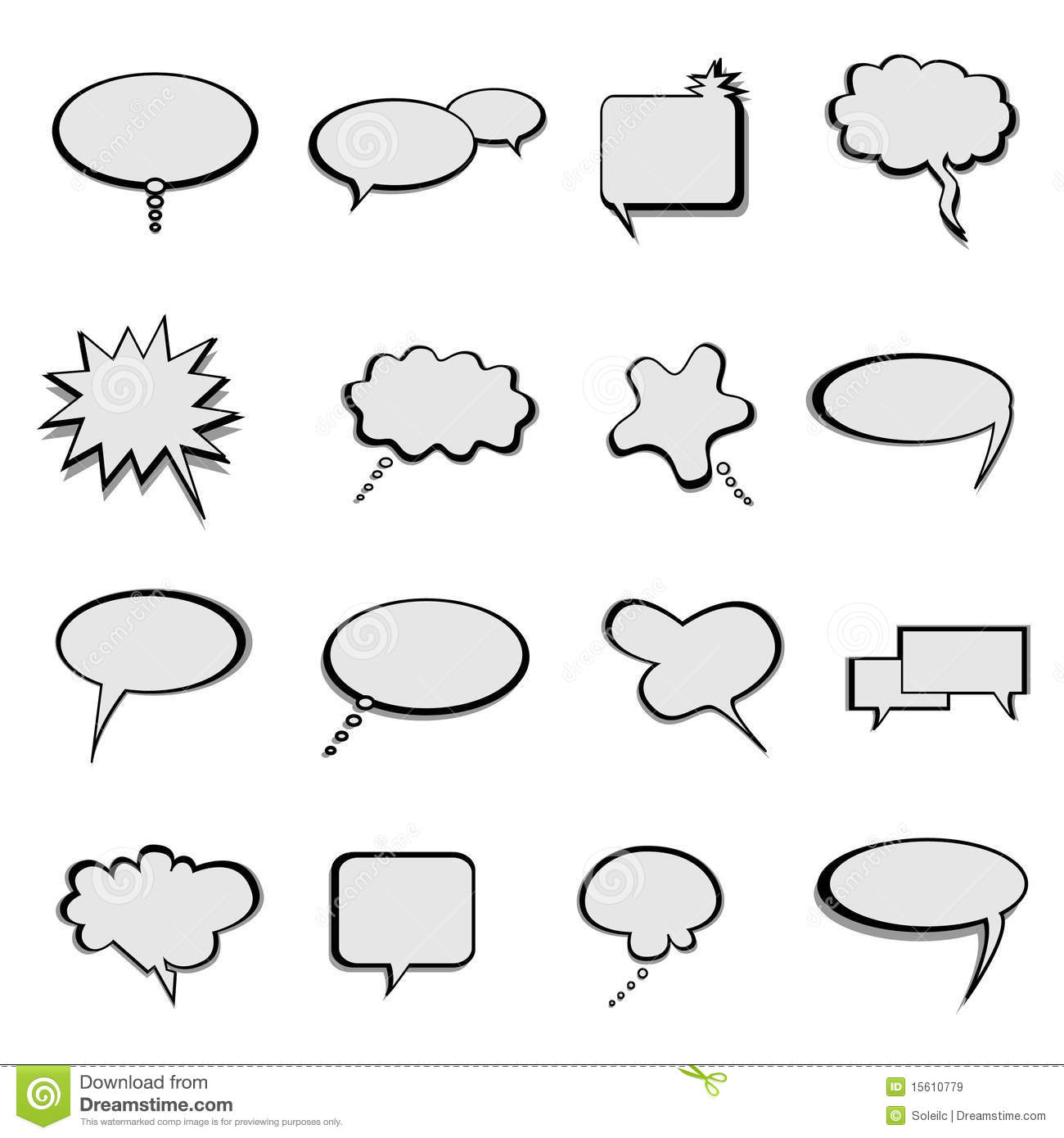 Talk And Speech Balloons Or Bubbles Royalty Free Stock