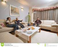 Talking In Living Room. Stock Image - Image: 3638741