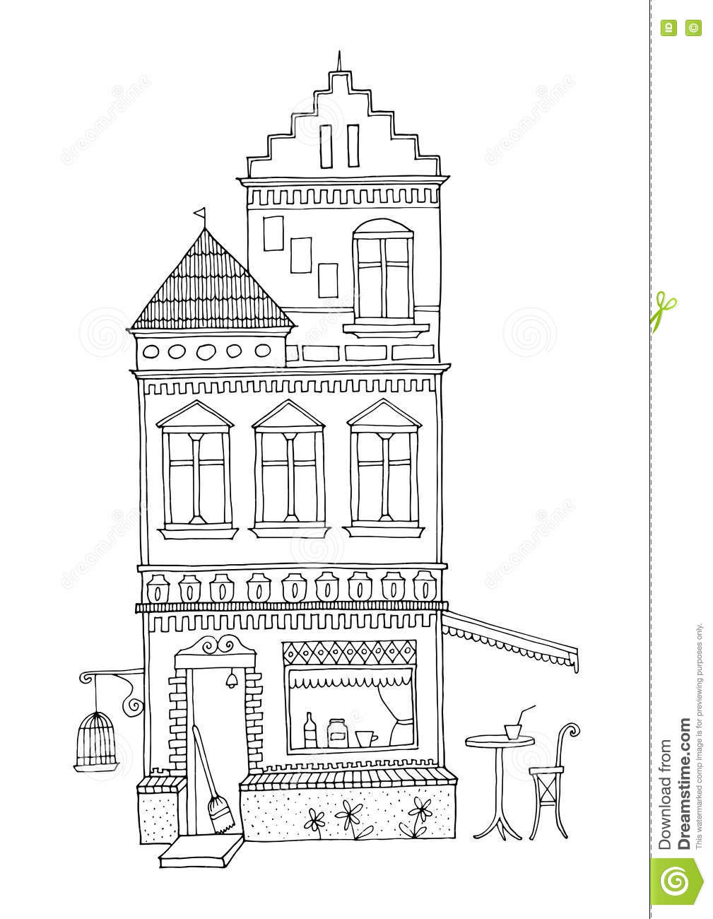 Tall House With Two Towers, Ornamental Architecture