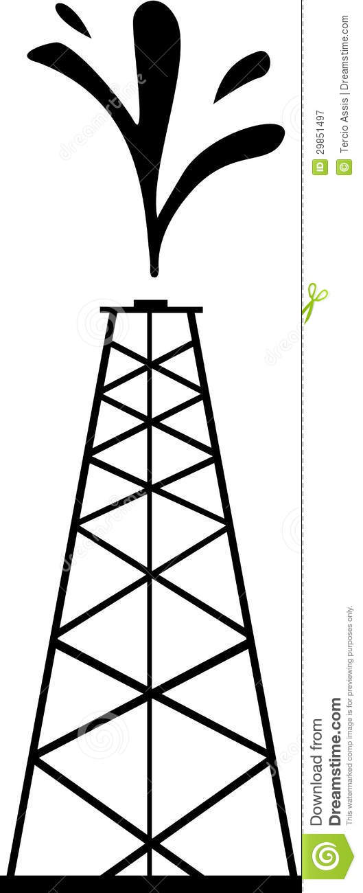 Petrol Tower stock vector. Illustration of load, large