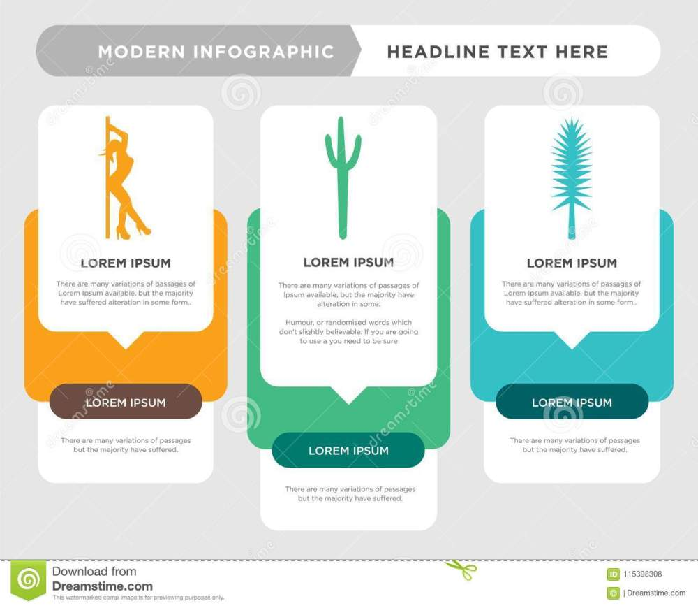 medium resolution of tall pine tree business infographic template the concept is option step with full color icon can be used for saguaro diagram infograph chart business