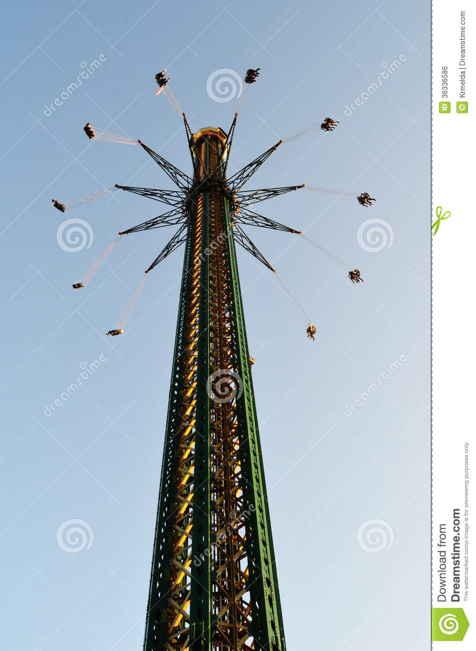 chair swing vienna white folding covers for sale tallest swinging carousel stock photo. image of austria - 36336586