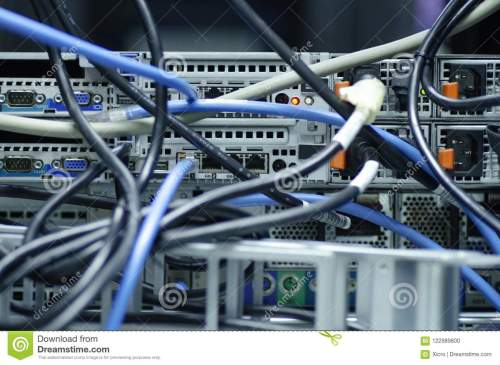 small resolution of tangled network cables and wires in server room for unorganized