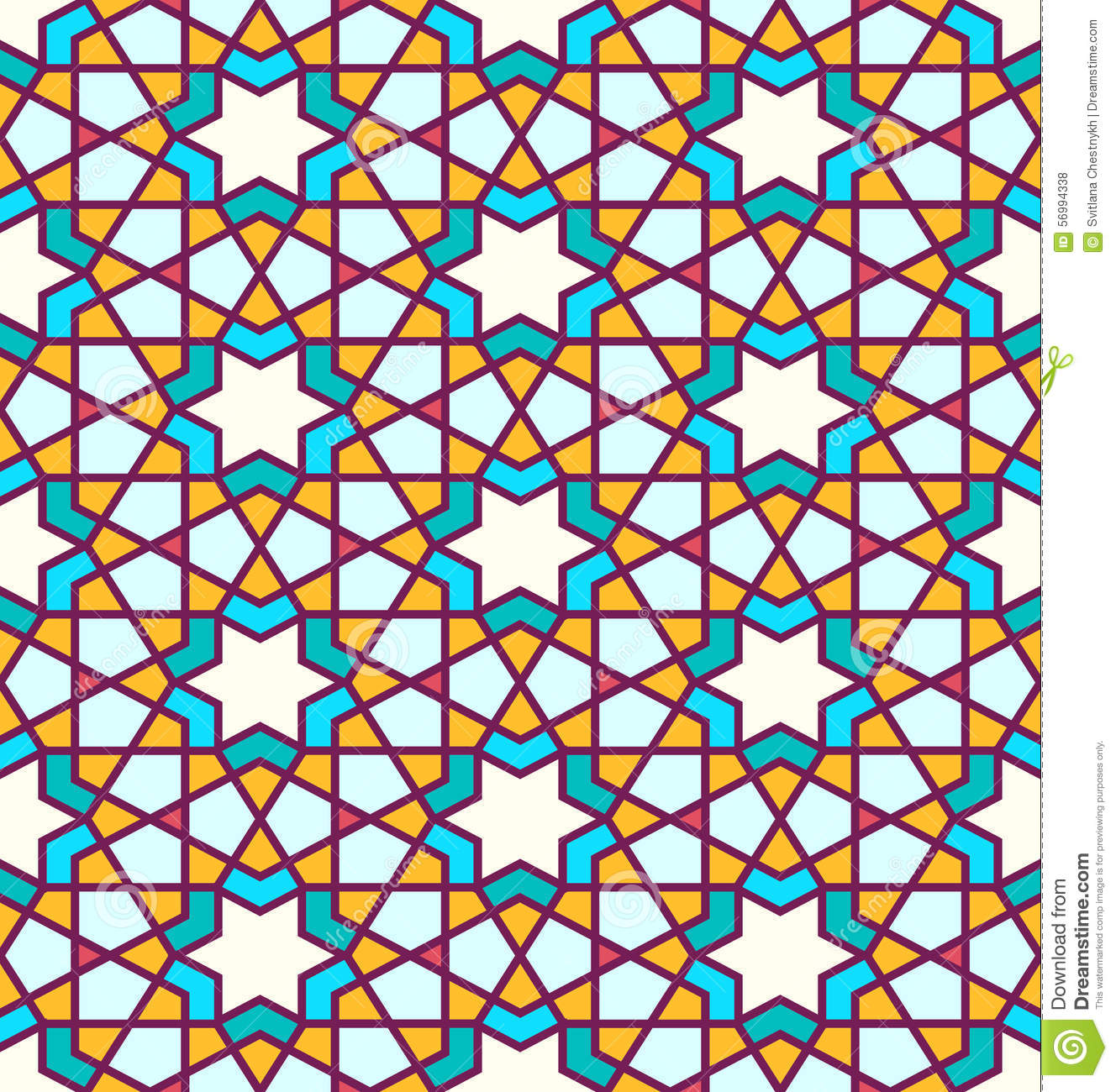 Tangled Pattern Based On Traditional Islam Pattern Stock