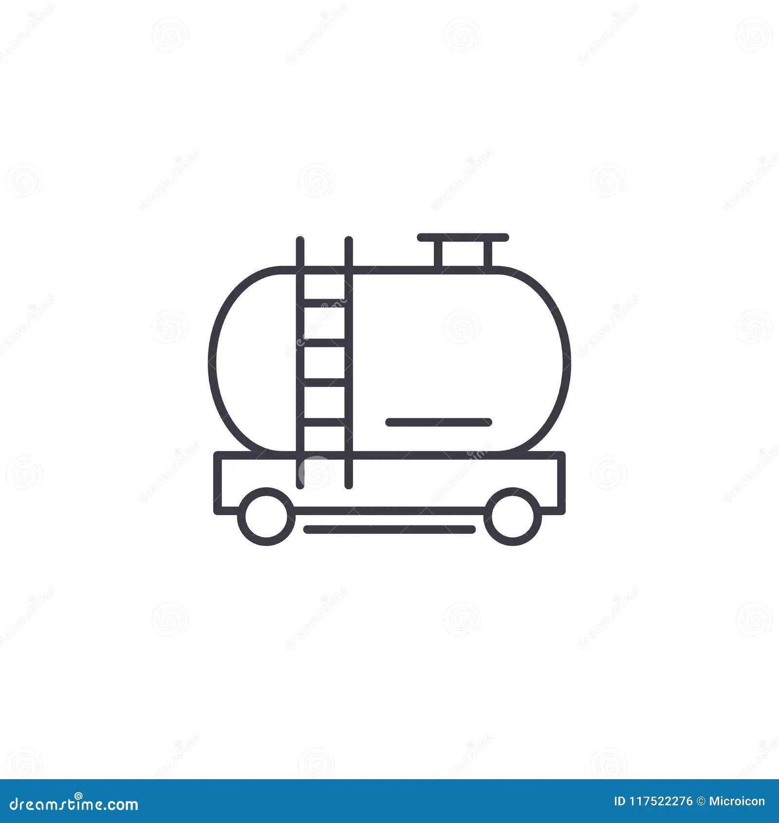 Gasoline Tanker Railroad Car Stock Photo