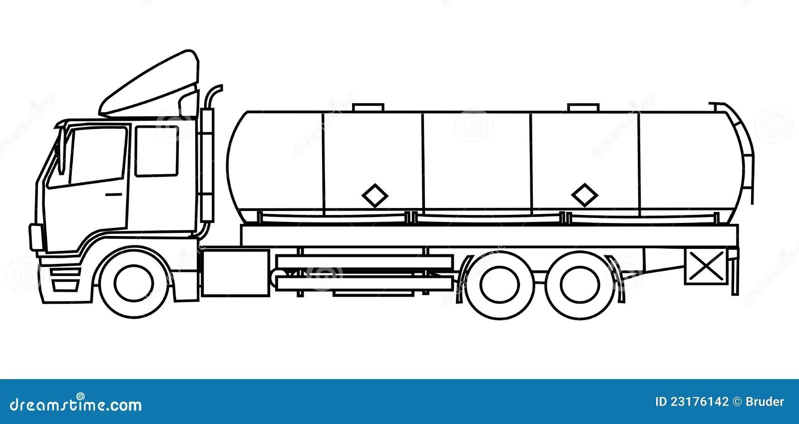 Tankwagen stock illustratie. Illustratie bestaande uit