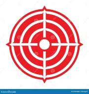 target crosshairs aim stock vector