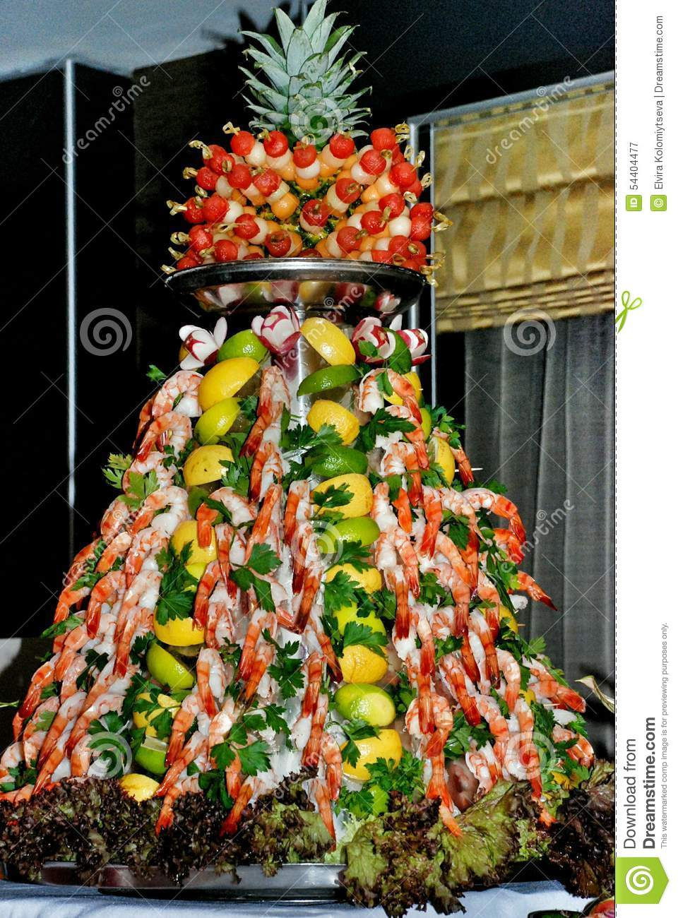 Tasty pyramid stock image Image of food cook lobsters