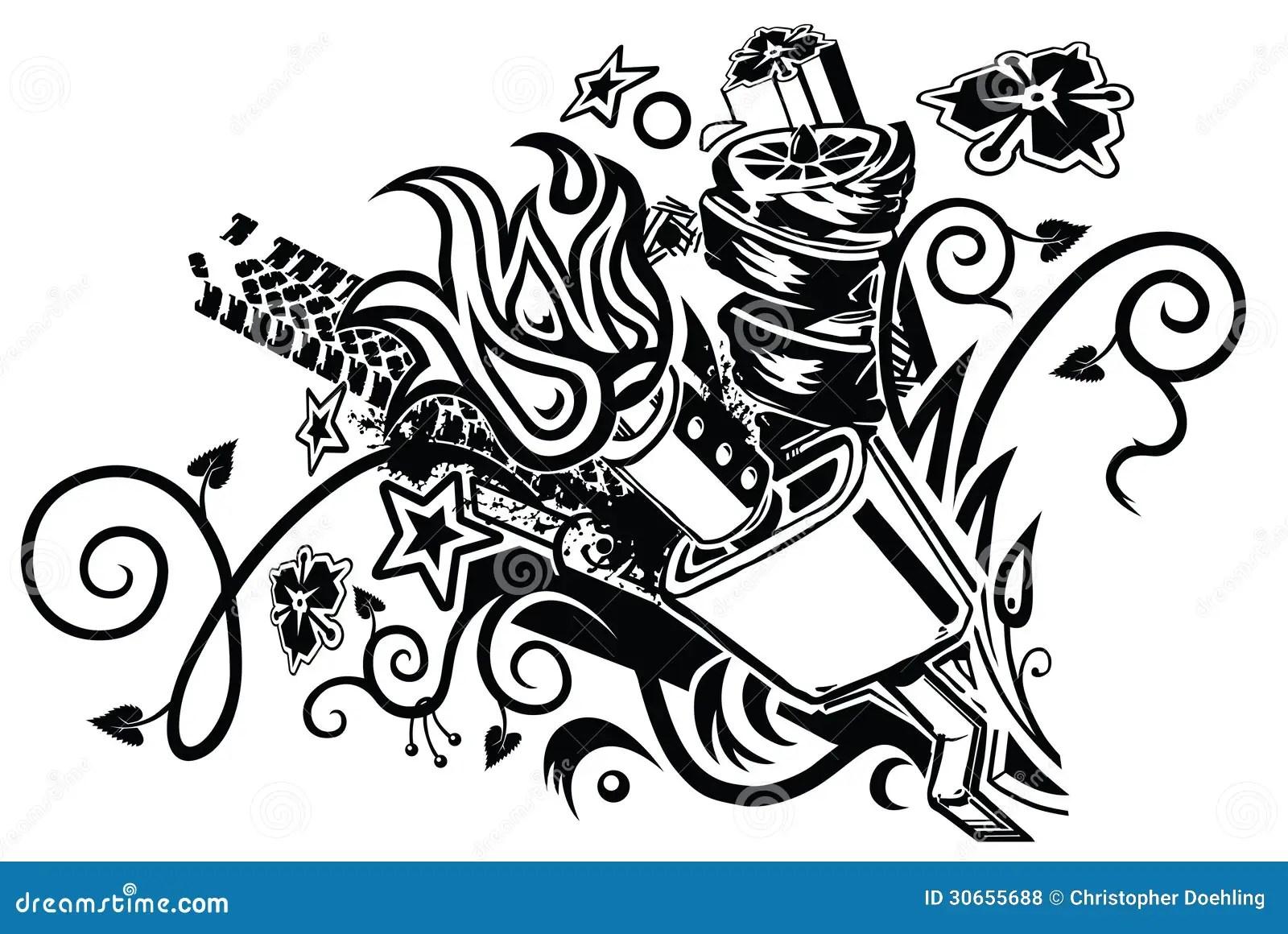 Tatouage D Explosion De Silencieux Photos Libres De Droits