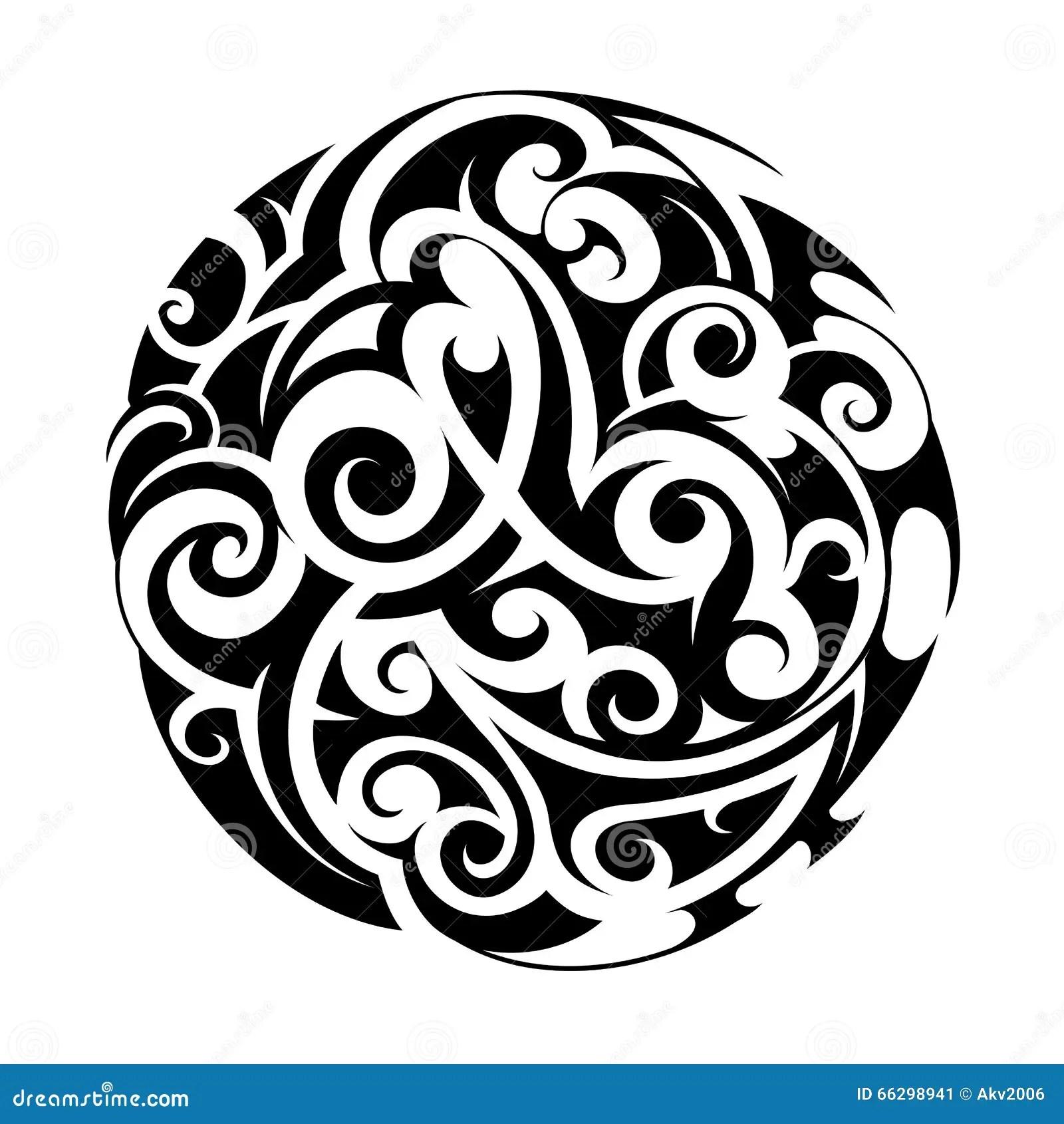 Tatouage Maori De Style Illustration De Vecteur Image Du