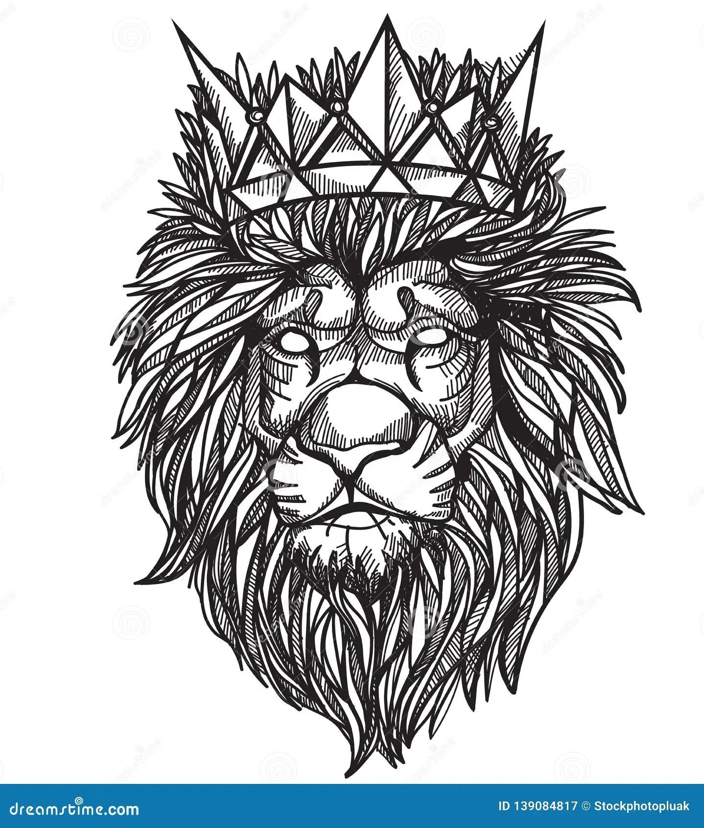 tattoo art lion hand