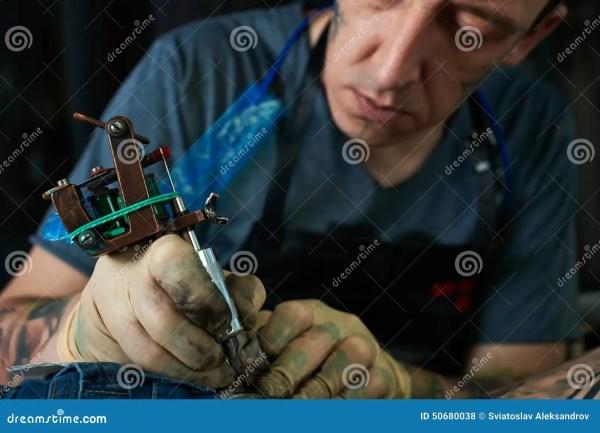 Tattoo Artist Work Stock Of Human