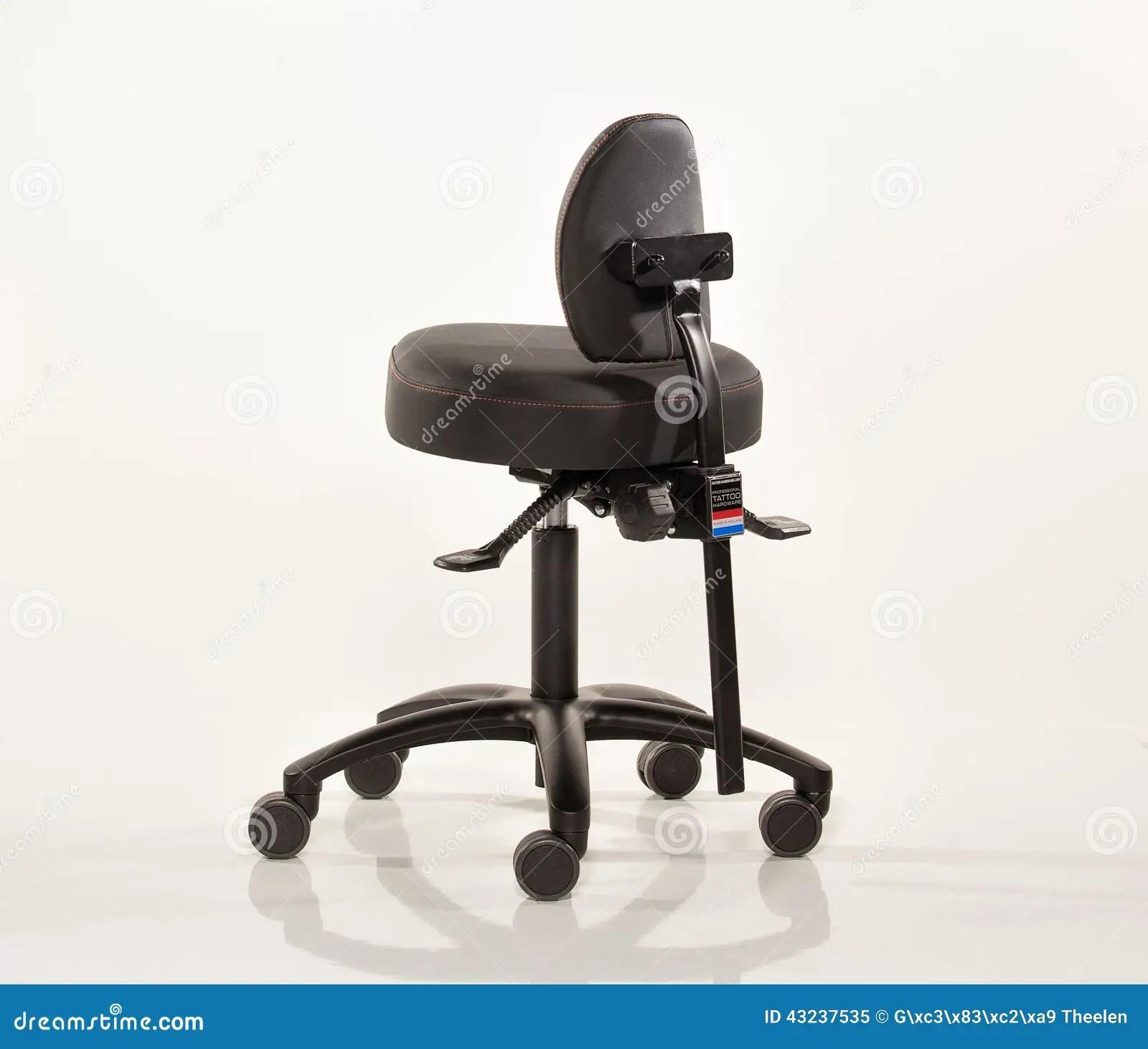 tattoo artist chair herman miller air stock image of steel blackframe 43237535 in leather on weels