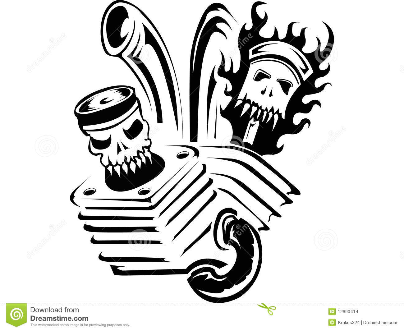 Tattoo Infernal Motor Stock Images